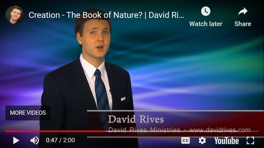 Creation Book of Nature? David Rives YouTube still