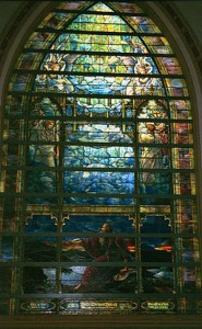 The Holy City Memorial Window for Maltbie D. Babcock created by artist Louis Comfort Tiffany
