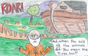 Cartoon drawn by Eliza Haley, 2012