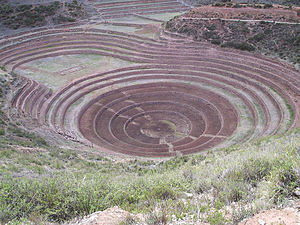 Ancient terraces in Peru (we guess they were trying new techniques)