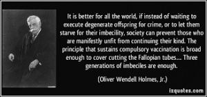 oliver wendell holmes jr unfit quote
