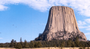 Devils Tower's West wall is a direct vertical climb of 600 ft.