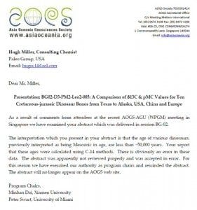 Creation Club AOGS Letter to Hugh Miller