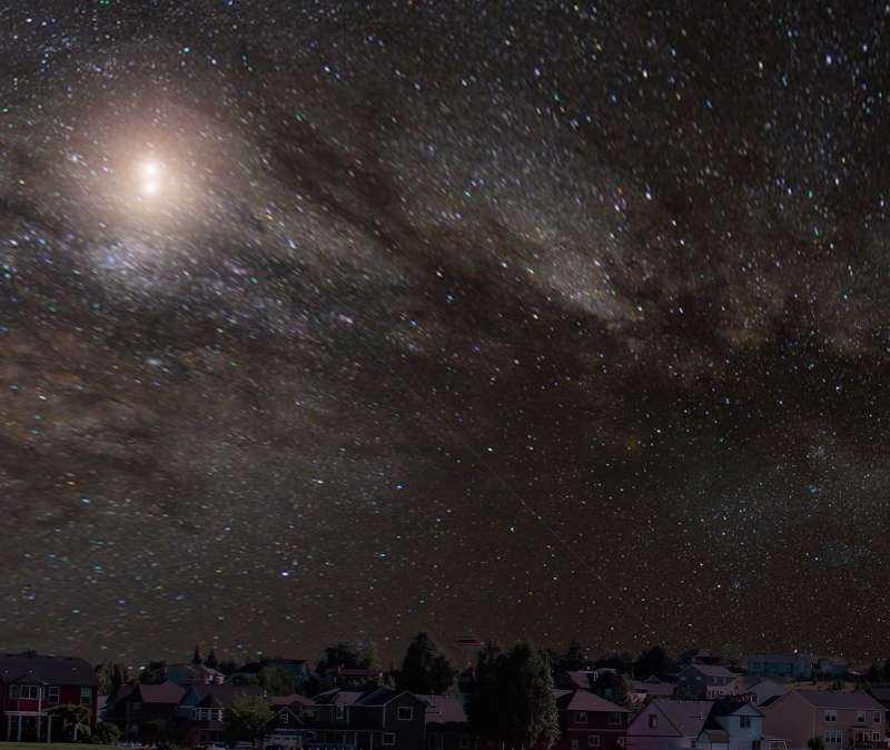 Starscape with nebular dust