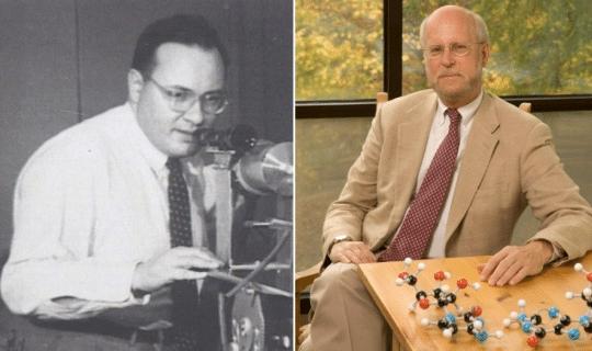 Nobel laureate Dr. Arthur Leonard Schawlow (left) and likely future Nobel laureate Dr. Henry F. Schaefer, III (right).