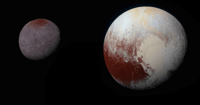 NASA Pluto & Churon composite