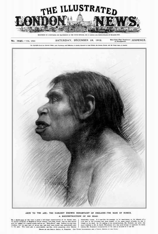 Piltdown Man Illustrated London News cover