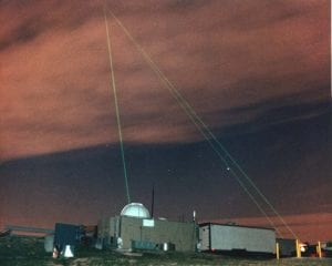 Satellite laser ranging at Goddard Geophysical and Astronomical Observatory. Image credit: NASA