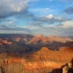 Grand Canyon under partly sunny skies