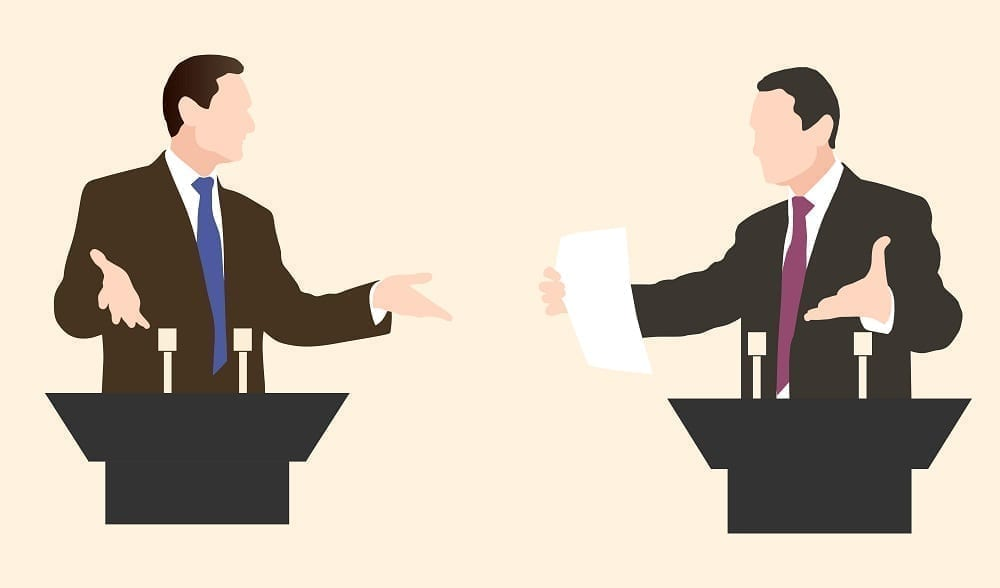 Debate graphic: Illustration 47468791 © Marynabolsunova - Dreamstime.com