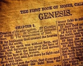 Old printed copy of Genesis 1