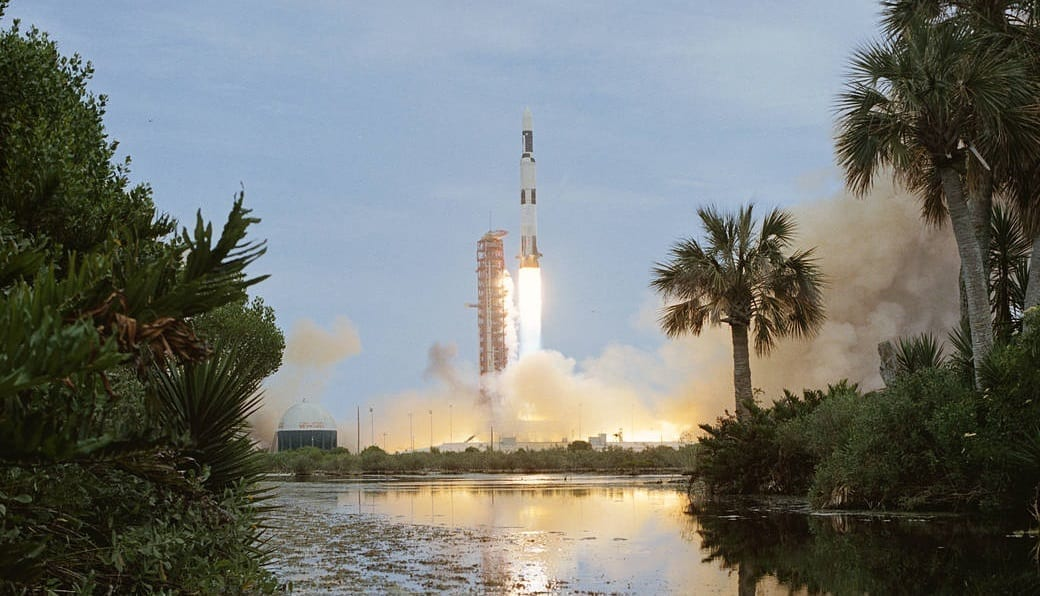 Saturn V launching from Kennedy Space Center, photo credit: NASA