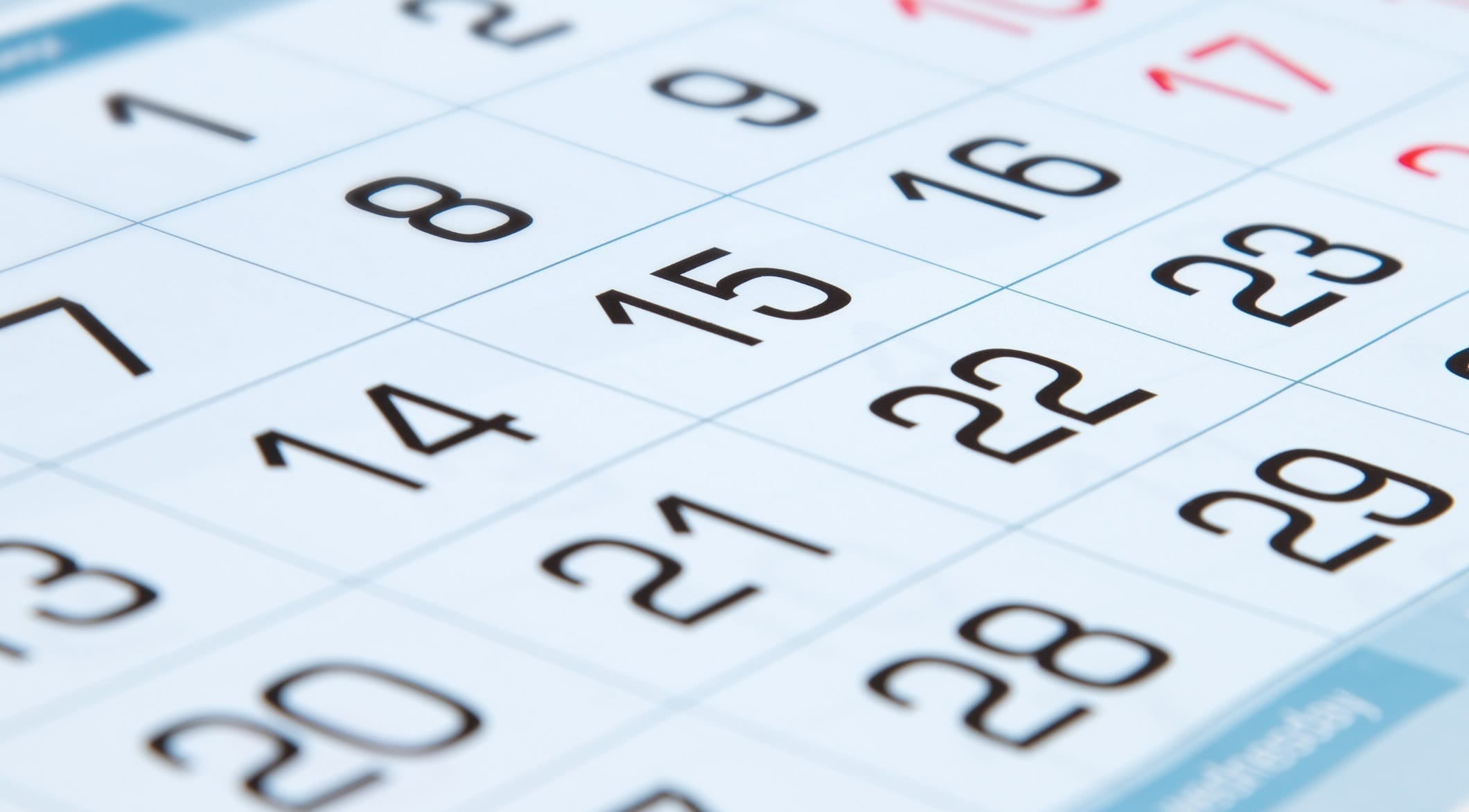 Calendar close up ID 95262702 © Fortton | Dreamstime.com
