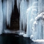 Frozen waterfall, photo credit: Peter Griffin