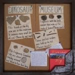 """Dinosaur Museum"" display board"