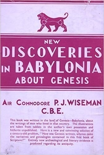 Cover of the book: New Discovieries in Bablonia about Genesis by P.J. Wiseman