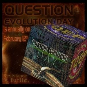 Question Evolution Day is annually on February 12