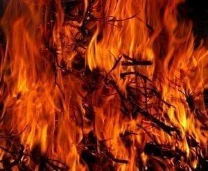 Blazing fire: Photo Credit: Pexels.com