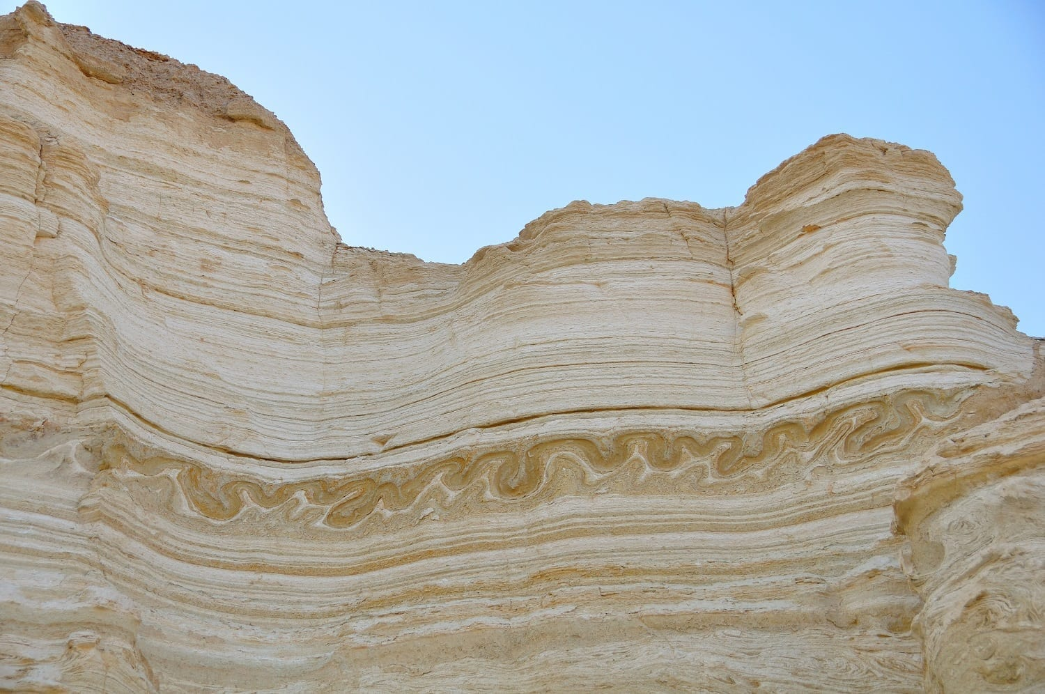 Sedimentary layers in Israel showing the serpentine folding an earthquake caused: ID 22433417 © Hugoht | Dreamstime.com