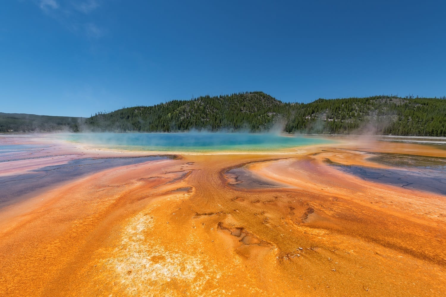 Grand Prismatic Springs: ID 135747258 © Jgorzynik | Dreamstime.com