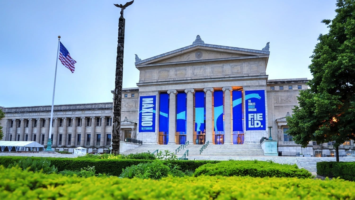 Front entrance at the Field Museum of Chicago: ID 120317244 © James Byard | Dreamstime.com