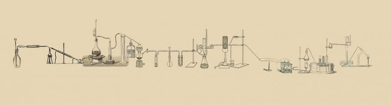 Lab equipment illustration