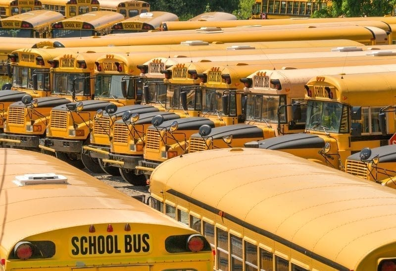 Parking lot full of school buses: ID 26160992 © George Kroll | Dreamstime.com