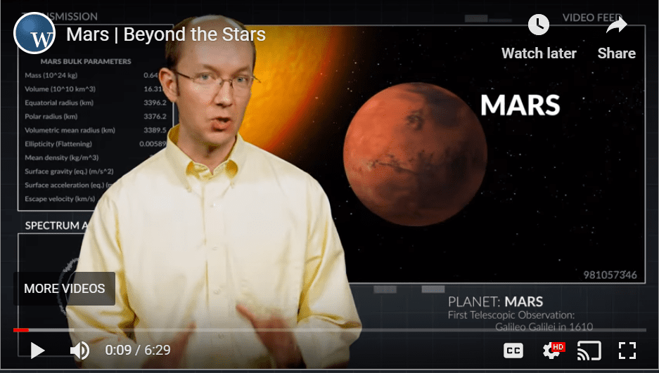 WVBS Mars YouTube video cover