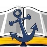 Bible and anchor clip art