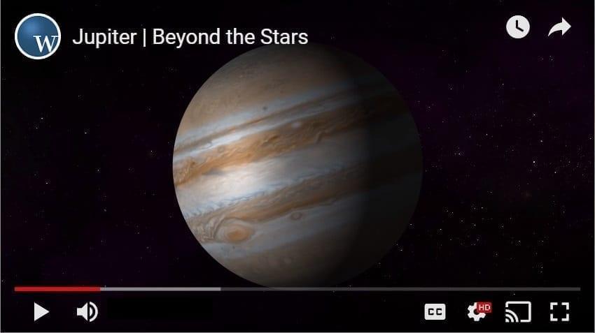 Video still of Jupiter