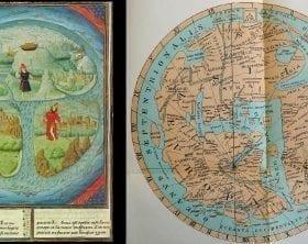 Two medieval Mappa Mundi depictions