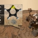 Curiosity with organic compound illustration, photo credit: NASA