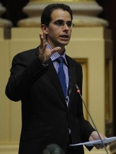 Dr. Nir Shaviv speaking to the Australian Parliament