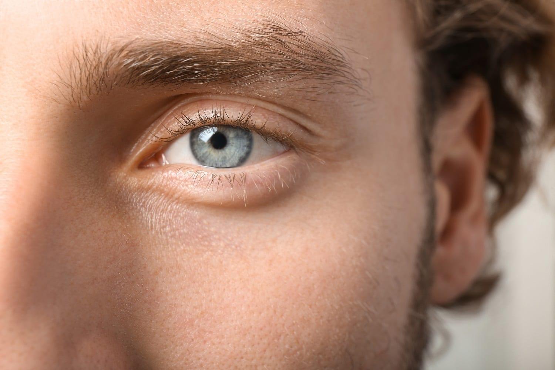 Closeup of a blue-eyed man: ID 151314241 © Leonid Yastremskiy | Dreamstime.com
