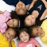 Children of different ethnic backgrounds forming a star shape: ID 4159688 © Thomas Perkins | Dreamstime.com