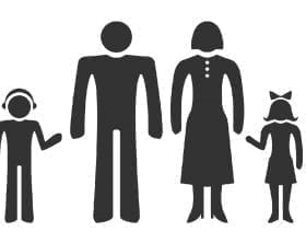 Family silhouettes, male and female: ID 45972678 © Drawnkeeper | Dreamstime.com