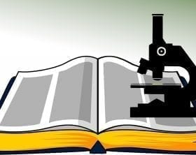 Bible and microscope clipart