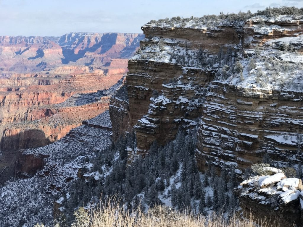 Snow at Duck on a Rock, Grand Canyon, photo credit: Nate Loper