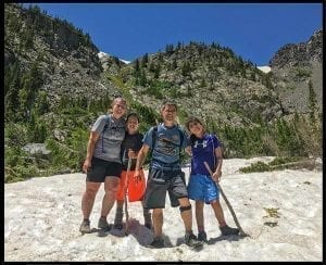 Mingarelli family in the Colorado Rockies