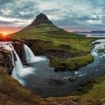 Iceland waterfall, mountain, sunset: ID 31731187 © Tomas1111 | Dreamstime.com
