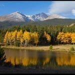 Autumn scene with snow dusted mountain, photo credit: Pat Mingarelli