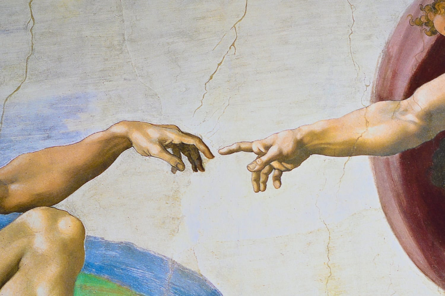 God touching Adam's finger closeup of Michaelangelo's Sistine Chapel ceiling: ID 160399961 © Vieriu Adrian | Dreamstime.com