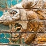 Ishtar gate of Babylon close up of lion relief painted bricks: ID 32270435 © Scaliger | Dreamstime.com
