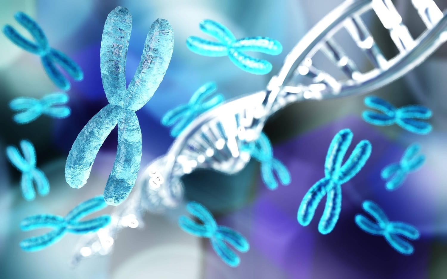 Chromosomes and DNA spirals: ID 141572715 © Stanislav Rykunov | Dreamstime.com