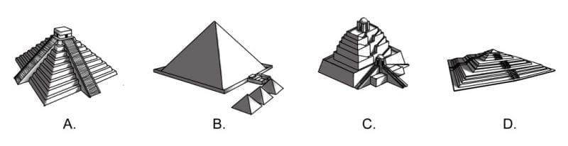 4 global pyramid designs, photo credit: D.S. Causey