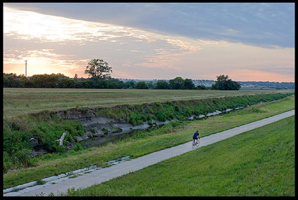 Lone biker in the country, photo credit: Pat Mingarelli