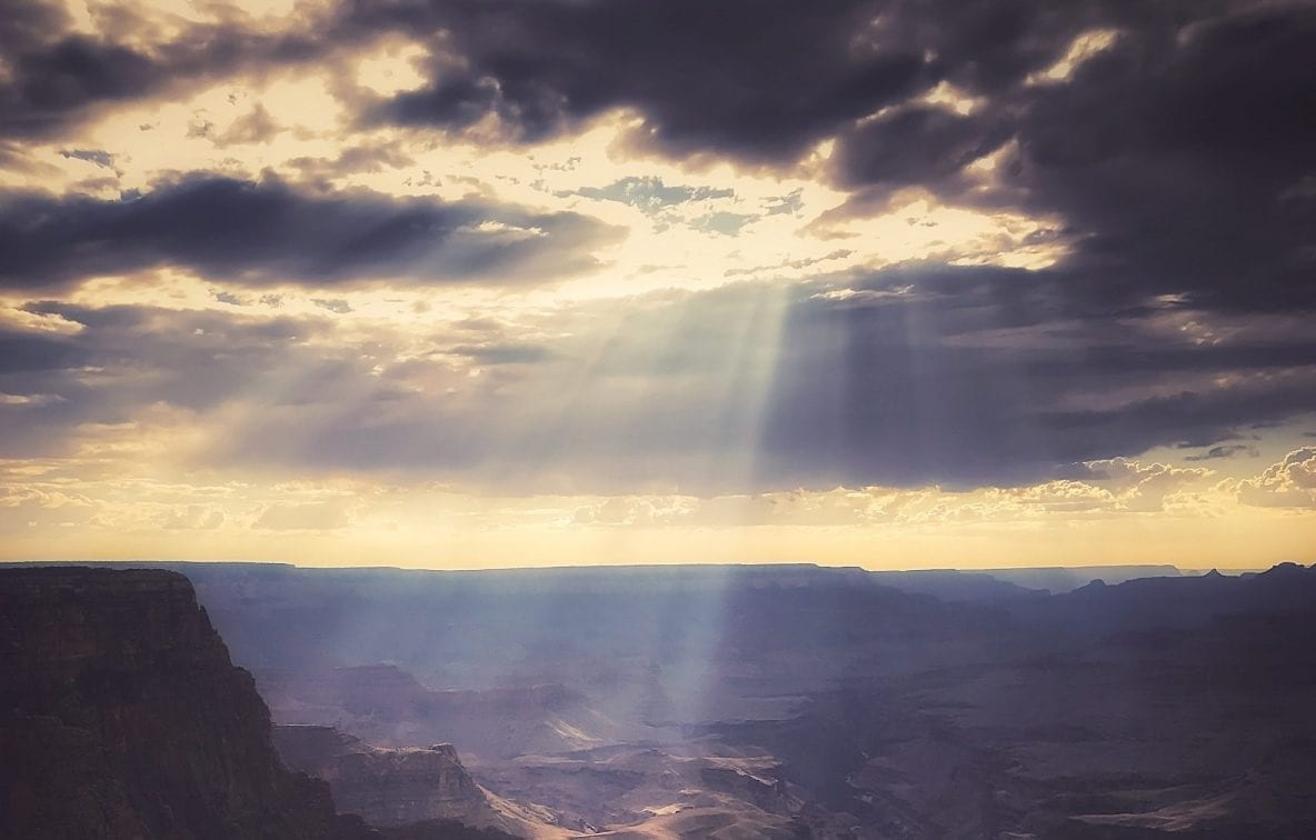 Sunbeam over Grand Canyon, photo credit: Nate Loper
