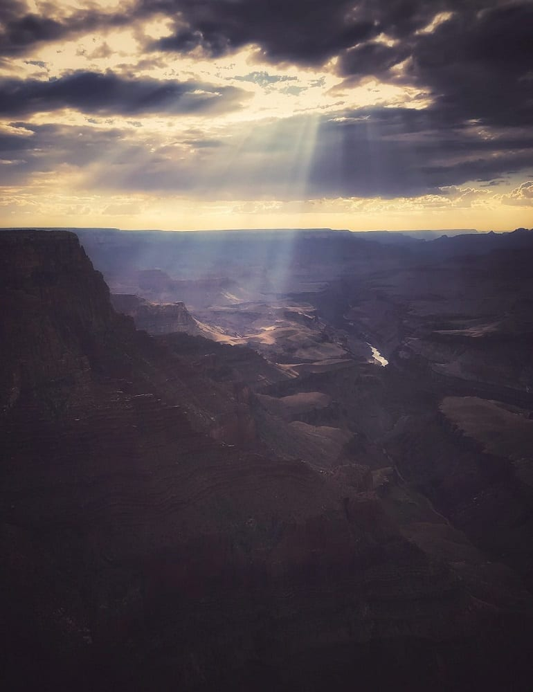 Full length: Sunshine over the Grand Canyon, photo credit: Nate Loper