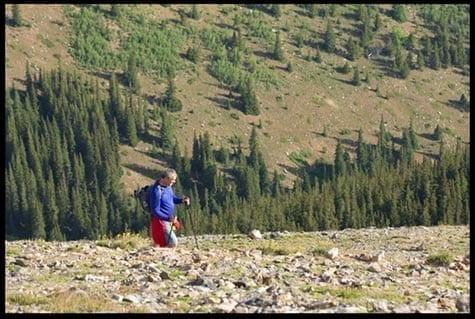 Man on rocky slope, photo credit: Pat Mingarelli