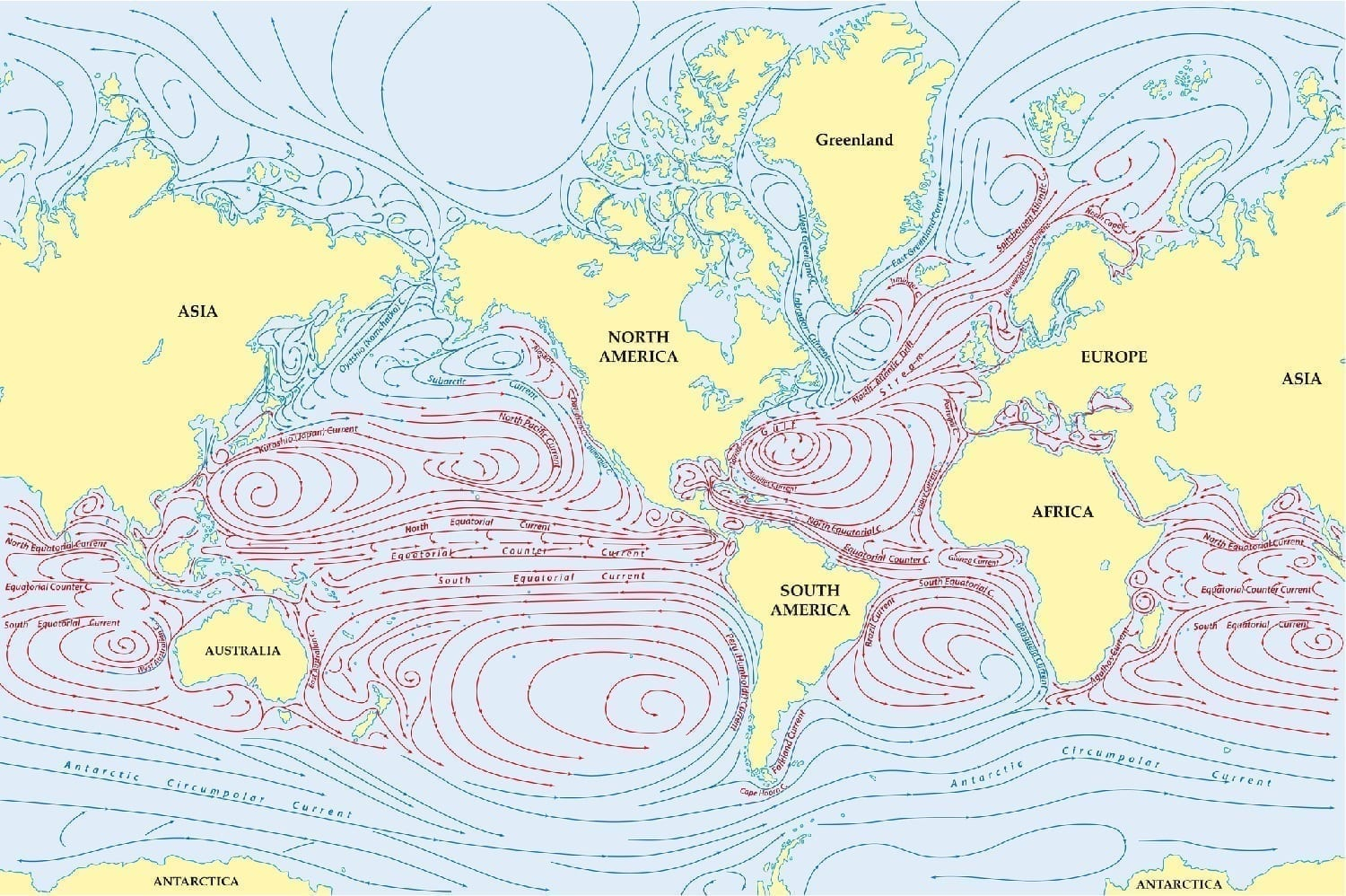Illustration of ocean currents: 87501907 © Rainer Lesniewski | Dreamstime.com